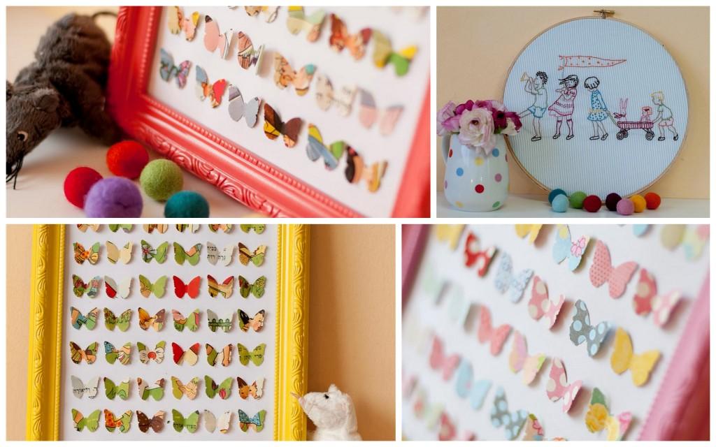תמונות, פרפרים, נייר